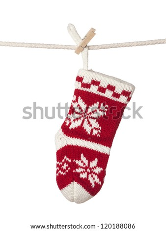 Christmas sock isolated on white background