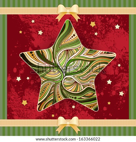 Christmas star background  - stock photo