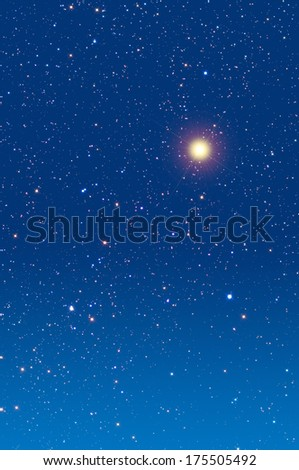 Christmas star in dawn/dusk. - stock photo