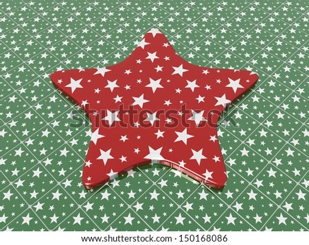 Christmas star on Christmas floor