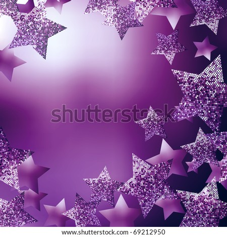 Christmas stars background - stock photo