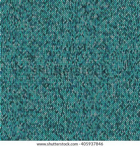 Christmas Sweater Design. Seamless teal Knitting Pattern. Graphic illustration - stock photo