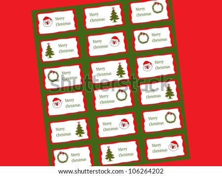 Christmas Tags/Stickers - stock photo