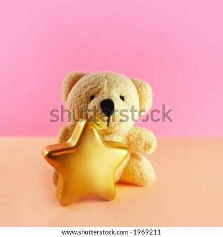 Christmas teddy bear - stock photo