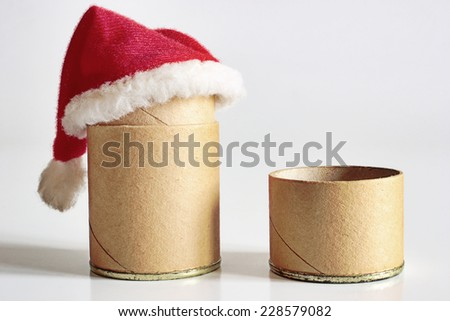Christmas theme: Christmas time for cardboard packages - stock photo