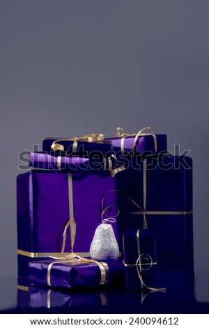CHristmas time ...gift boxes time  - stock photo