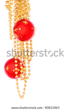 Christmas toy and beads 9 - stock photo