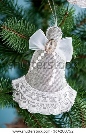 Christmas toy angel - stock photo