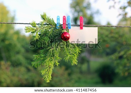 Christmas toy on a tree - stock photo