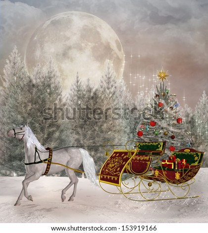 Christmas travel - stock photo