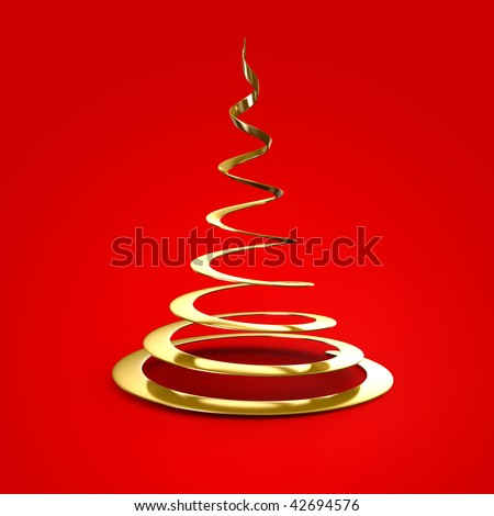 Christmas tree abstract - stock photo