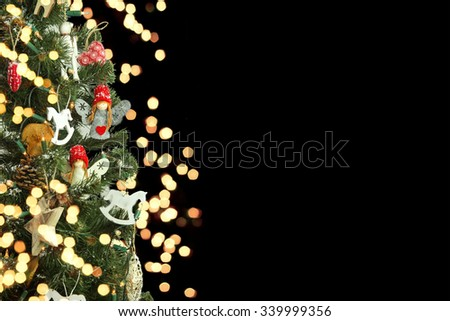 Christmas tree and Christmas decorations