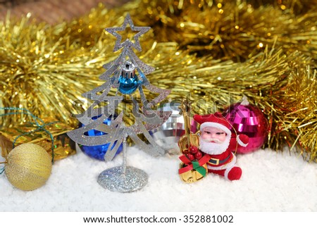 Christmas tree and decorative object - stock photo