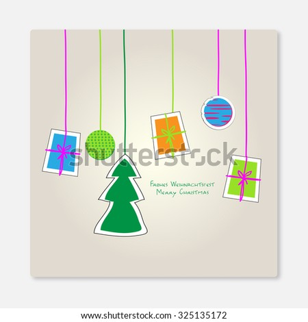 christmas tree and presents - stock photo