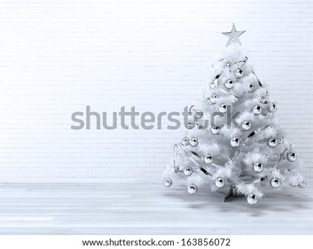 Christmas-Tree Background - stock photo