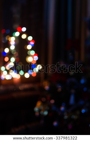 Christmas tree bokeh,Christmas background, New Year background