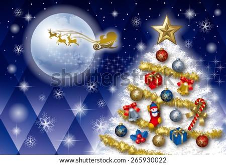Christmas tree Card. - stock photo