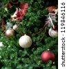 christmas tree decorated - stock photo