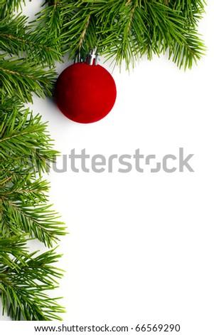 Christmas tree decoration isolated - stock photo