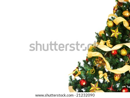 Christmas Tree Decoration. Over white background