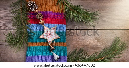 Christmas tree decoration snowflake wooden texture background woolen warm wear  texture new year