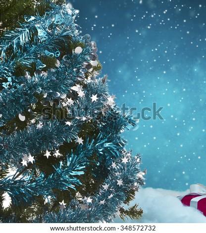 christmas tree decorations  - stock photo