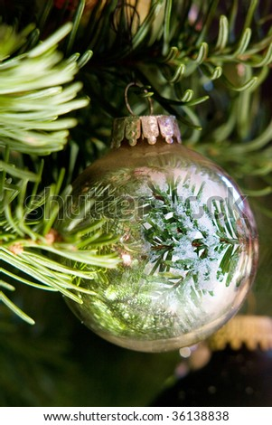 Christmas tree decorations - stock photo