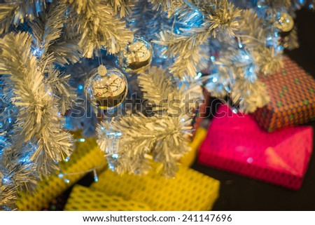 Christmas Tree Decorations with Bokeh