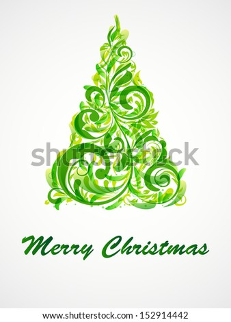 Christmas tree decorative abstraction background. raster copy of vector file