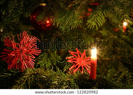 Christmas Tree detail #1 - stock photo
