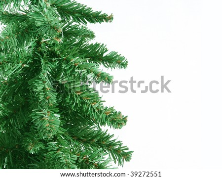 Christmas tree detail with space for text - stock photo