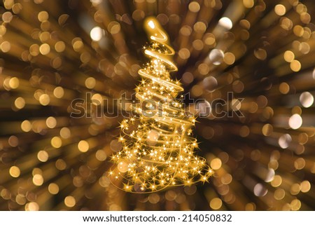 christmas tree from the xmas lights - stock photo