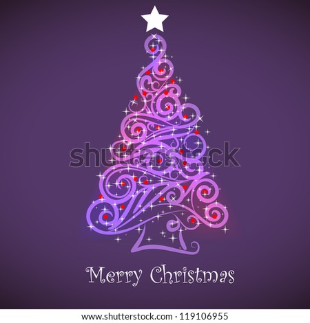 christmas tree in rainbow colors