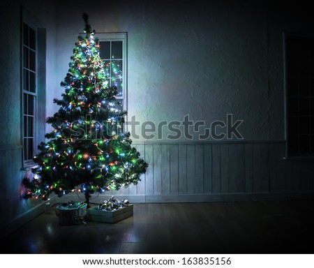 Christmas tree in the interior