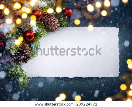 christmas tree light - stock photo