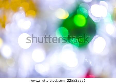 Christmas tree light bokeh. - stock photo