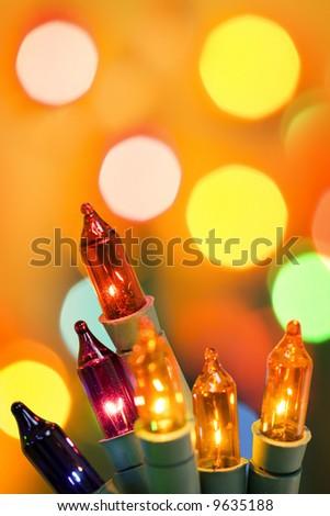 Christmas tree lights. - stock photo