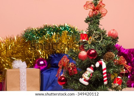 Christmas tree - lights and Christmas decorations