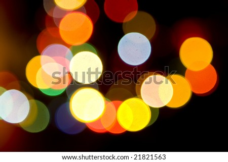 Christmas tree lights out of focus - stock photo