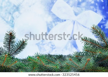 Christmas tree on abstract background
