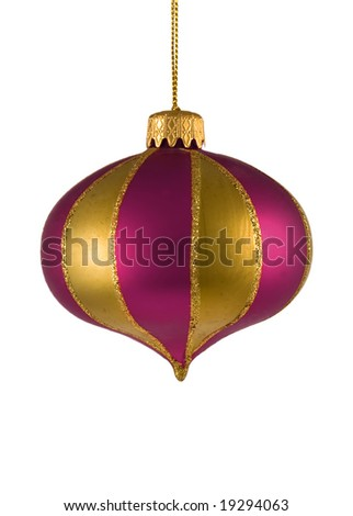 christmas tree ornament isolated on white background. FIND MORE christmas ornaments in my portfolio - stock photo