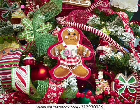 Christmas Tree Ornaments Holiday Season - stock photo