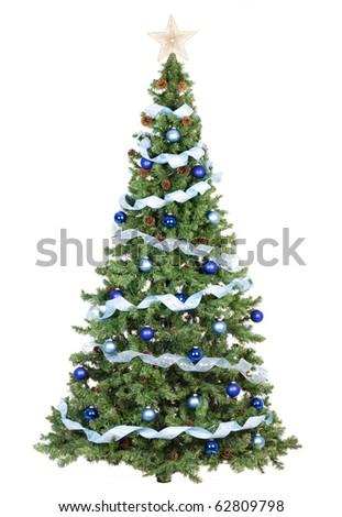 Christmas Tree. Over white background - stock photo