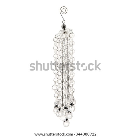 christmas-tree plastic pendant isolated on a white - stock photo