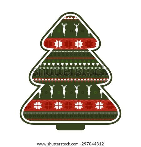 Christmas tree. Raster version - stock photo