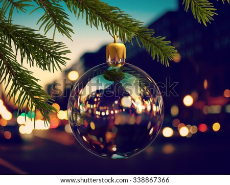 Christmas tree toy - stock photo