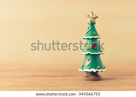 Christmas tree vintage background - stock photo