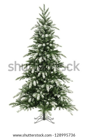 christmas tree without ornaments stock images royalty