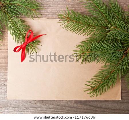 christmas vintage background - stock photo