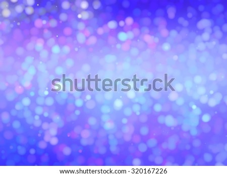 Christmas violet background. The winter background, falling snowflakes - stock photo